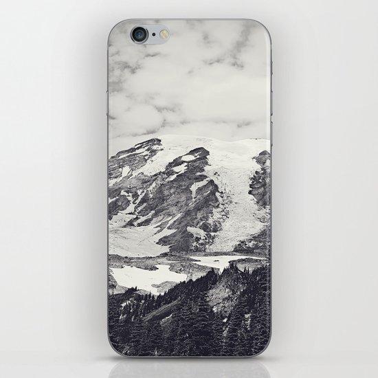 Mount Rainier B&W iPhone & iPod Skin