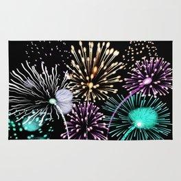 Bright firework texture Rug