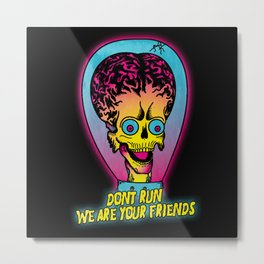 Mars Attacks Metal Print