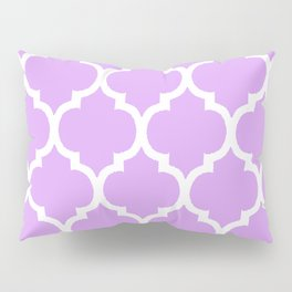 MOROCCAN PURPLE VIOLET AND WHITE PATTERN Pillow Sham