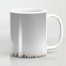 Griffith Park Observatory with Downtown LA Skyline Coffee Mug