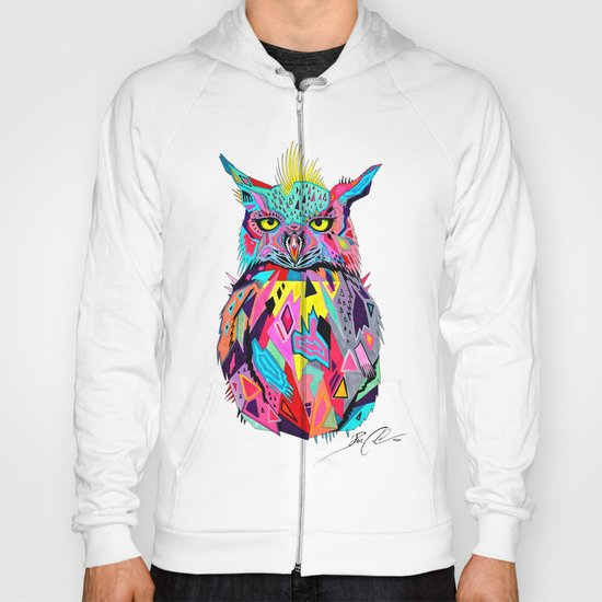 -Abstract Owl- Hoody