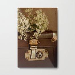 Old suitcase Metal Print