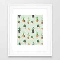 succulents Framed Art Prints featuring Succulents  by Tasteful Tatters