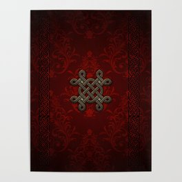 Decorative celtic knot Poster