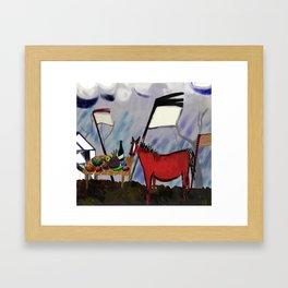 The Horse in September Framed Art Print
