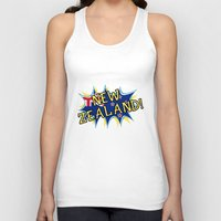 new zealand Tank Tops featuring  New Zealand  by mailboxdisco