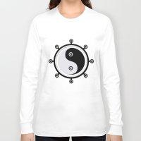 yin yang Long Sleeve T-shirts featuring Yin yang by Nir P