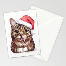 Christmas Animal Santa Cat Stationery Cards