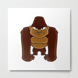 geometric gorilla Metal Print