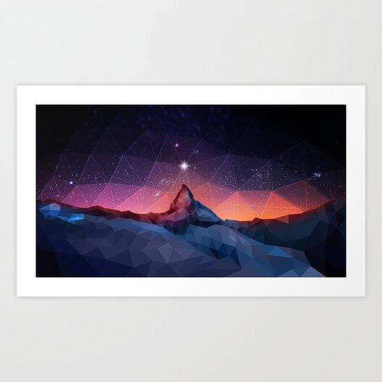Space Mountain Art Print