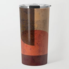 Terracotta Mid Century Abstract Circle Travel Mug