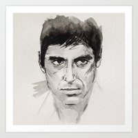 scarface Art Prints featuring SCARFACE by sefibz