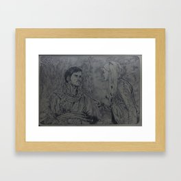 The captain and the swan Framed Art Print