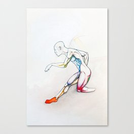 31 (Over), Male nude athletic figure, NYC artist Canvas Print