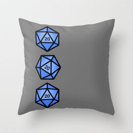 Blue d20 Throw Pillow