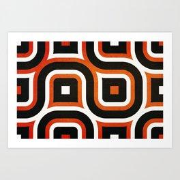 Pattern Brown Art Print