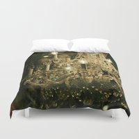 chandelier Duvet Covers featuring New Orleans Chandelier by Briole Photography