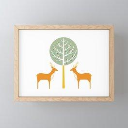 Deer Tree Framed Mini Art Print
