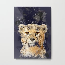 Animals Cheetah Metal Print