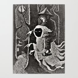 Spook illustration Poster