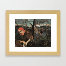Christ and the Garden of Olives Framed Art Print