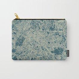 Paris Map Blue Carry-All Pouch