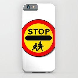 Stop Children Traffic Sign iPhone Case