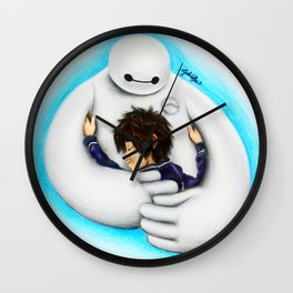 Big Hero 6 by Gabriella Livia Wall Clock