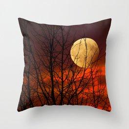 Moon mood Throw Pillow