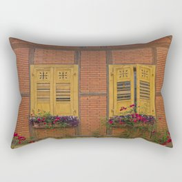 Windows and Roses Rectangular Pillow