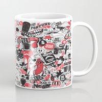 western Mugs featuring Western Pattern by lanewera