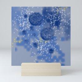 Sky galaxy   Classic blue pattern Mini Art Print