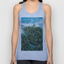 Mountain in a Lake - Landscape Photography Unisex Tank Top