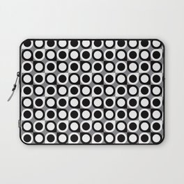 Geometric Pattern #193 (black gray circles) Laptop Sleeve
