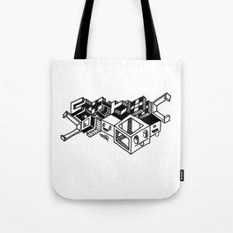 Cube monsters geometric doodle art Tote Bag