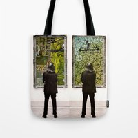 frames Tote Bags featuring Frames by Monster Rally / Ted Feighan