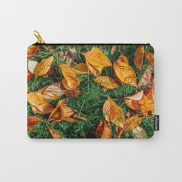 Orange Autumn Leaves Background In Fall Season, Autumn Season, Fall Background, Falling Leaves, Art Carry-All Pouch
