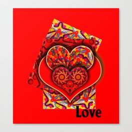 Hearts and Love 2 Canvas Print