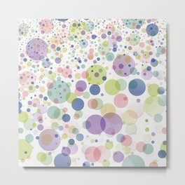 Pattern dots springcolors Metal Print