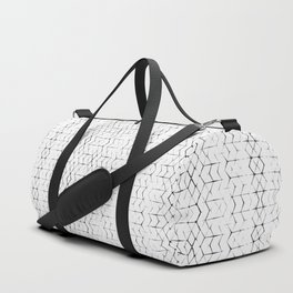 Shibori Diamonds in Black and White Duffle Bag