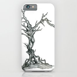 Gnarled Tree pencil drawing iPhone Case