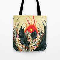 dragon Tote Bags featuring  Dragon  by Shane R. Murphy