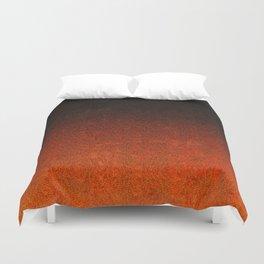 Orange & Black Glitter Gradient Duvet Cover