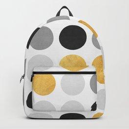 Gray and gold circles Backpack