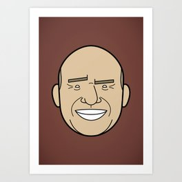 Faces of Breaking Bad: Hank Schrader Art Print
