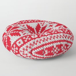 Winter knitted pattern 6 Floor Pillow