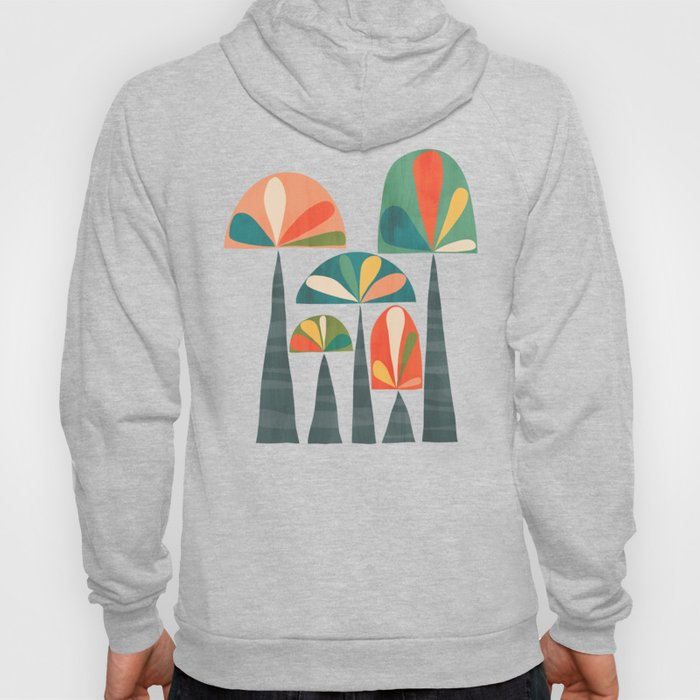 Quirky retro palm trees Hoody
