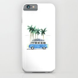 Vintage Camper Van · Surf Trip · Vintage Vehicle · Classic Camper van iPhone Case
