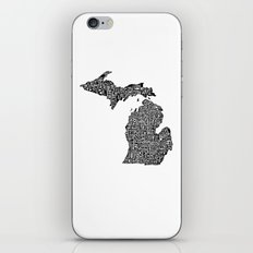 Typographic Michigan iPhone Skin